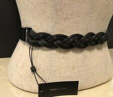 BCBG MAXAZRIA BRAIDED CHAIN ELASTIC FASHION BELT