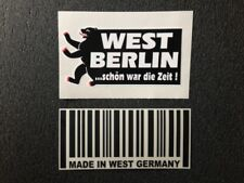 Aufkleber West Berlin...schön war die Zeit + Made in West Germany Sticker NEU