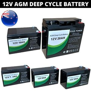 12V AGM Deep Cycle Battery SLA Sealed Solar Power Bike 7Ah 9Ah 12Ah 15Ah 20Ah