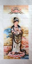 Rollbild Guanyin, chinesische Malerei, Bildrolle Hängerolle, Kuan Yin, Kwan Yin