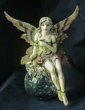 Mystical Fairy Figurine Statue Fantasy Mythical Magic Magical Glass Orb Resin
