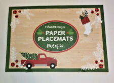 Red Vintage Farm Truck Paper Placemats Pad of 40 Oversized 16 x 11 Two Styles