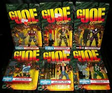 GI JOE EXTREME ACTION FIGURES LOT OF 6 NEW IN PACKAGE GREAT SHAPE VINTAGE 1995