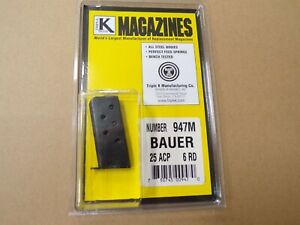 Bauer Vest Pocket, 25 ACP Magazine by TripleK #947M  Made in the USA!