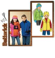 Kid Jacket Vest Mittens Sewing Pattern 7-10 Butterick 4595 OOP