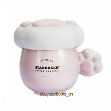 Starbucks Cup China Pink Sakura Cherry Blossom Cat Claw Cup Lid 6oz Mug