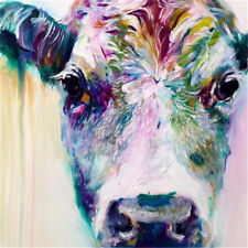 Animal Cow Hand Painted  Oil Painting on Canvas No Frame 24