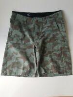 Mens VOLCOM VARGO Cargo Shorts Camouflage Camo Size 31 Preowned. (F12/0)