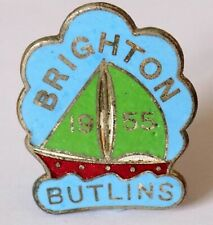 More details for butlins holiday camp badge brighton 1955 yacht/green sails (fattorini & sons).