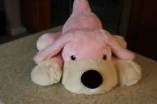 "Fao Schwarz Penelope Puppy Dog Large 21"" Pink Cream Soft Plush Toy Animal"