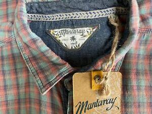 Bnwt Mens Mantaray Warm Check Multicolour Long Sleeve Cotton Shirt Size Xl #A