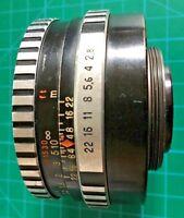 CARL ZEISS JENA 50mm F/2.8 TESSAR M42 Screw Mount Lens - ZEBRA