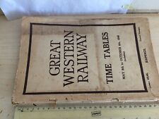 GREAT WESTERN RAILWAY TIMETABLE JUNE 16TH - OCT 5TH 1947 150PP j Milne