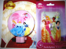 NEW Disney Princess  Night Light & Switch Plate Cover Set