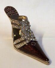 Fabulous JUJU Palais Royal  High Heel Shoe Red & Silver, Swarovski Crystals
