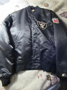 Oakland Raiders Starter Jacket Vintage 80's Pre -Owned  Size Medium  X'Mas Gift