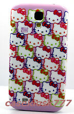 for Samsung galaxy S4 phone case cover hello kitty kitten pink purple faces //