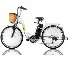 "Nakto 26"" 250W Cargo-Electric Bicycle 6 speed E-Bike with 36V10A Lithium Battery"