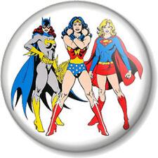 Wonder Woman Superwoman Batwoman 25mm Pin Button Badge Supergirl Superheroines