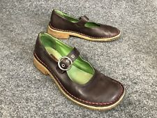 Camper Brown Leather Mary Jane Flats W/Crepe Soles Womens Size EU 38 US 7.5-8