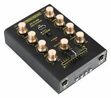 Mixeur DJ Table de Mixage Ampli Bluetooth USB 2 Canaux Entrées Stéréo Casque Mic