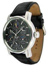 Minoir Uhren Armbanduhr mit Weltstädteanzeige Herrenuhr Automatikuhr