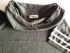 Carlo Colucci Rollkragen-Pullover Damen Kurzarm Mintgrün Unifarben Gr. 46 / XL