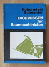 DDR Buch Fachwissen Bamaschinisten Bagger Schaufellader Raupen Baumaschinen