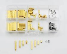 120pc Brass Hex Spacer M2 Screw Separator Stand off Standoff Set Kit Spacers PCB