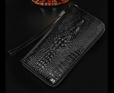 wallet case for a men black crocodile skin