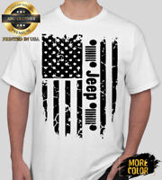 Jeep Flag Only a Jeep American Jeep T-shirt For Men Woman