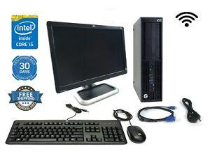 Custom HP Workstation Bundle Xeon 3.2GHz w/ KB Mouse Monitor WIFI PC Computer