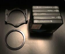 Cokin A series: Circular Pola 164, Filters:197, 150, 086, 026, Holder, ring 55mm