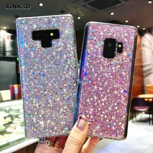 Glitter Bling Soft Case for Samsung Cute Shiny Cover Phone Back Christmas Gift