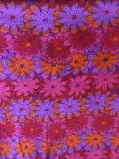 Groovy Flowers Fleece Fabric Pattern  2 Yards
