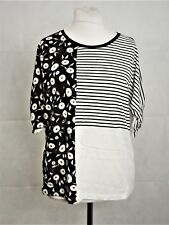 NEXT Mono Print Tee Black/white Size UK 12 Dh085 Mm 02