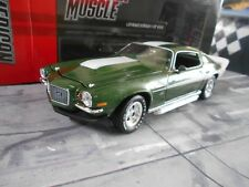 CHEVROLET CAMARO BALDWIN MOTION GREEN 1970 muscle car v8 ertl autoworld SP 1:18