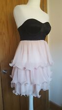 BNWT Lipsy VIP Layered Wire Frilled Hem Babydoll Skater Prom Dress UK10 RRP £120