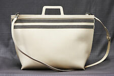NWT. $3945 Brunello Cucinelli Leather Monili Striped Oversize Shoulder Tote Bag