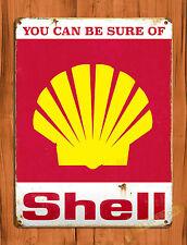 "TIN-UPS TIN SIGN ""Shell Gasoline"" Auto Gas Garage Vintage Retro Ad Decor"