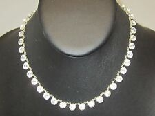 Crystals Necklace 5789B Fashion Silvertone Clear