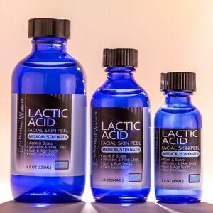 Lactic Acid Skin Peel For Acne Wrinkles Melasma Age Spots 25% 40% 50% 90%
