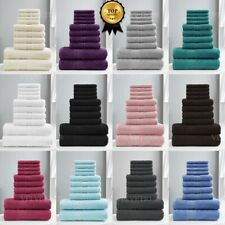 100% EGYPTIAN COTTON TOWEL BALE SET 10 PIECE FACE HAND BATHROOM TORONTO TOWELS
