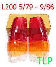 MITSUBISHI TRITON TAIL LIGHT REAR LAMP LENS MA MB MC MD UTE PICKUP 79 - 86 PAIR