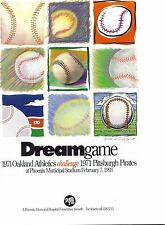 RARE DREAM GAME PROGRAM 1971 PITTSBURGH PIRATES VS 1971 OAKLAND AS BASEBALL MINT