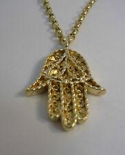 Scottish Khamsa Good Luck Charm Pendant Chain 9ct Yellow Gold 375 Ola Gorie