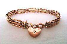 Rare & Beautiful Ornate 9ct Rose Gold Victorian Gate Bracelet c1892  10.49 Grams