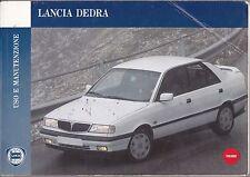 LANCIA DEDRA - USO E MANUTENZIONE -  MANUALE ORIGINALE - 1° Edizione 1992