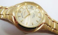 Seiko Kinetic Gold Tone Stainless Steel 5M62-0AG8 Sample Watch NON-WORKING