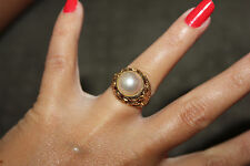 9ct Yellow Gold and Mabe Pearl Ring